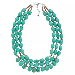 Silpada 'Drops of the Ocean'  Howlite Necklace